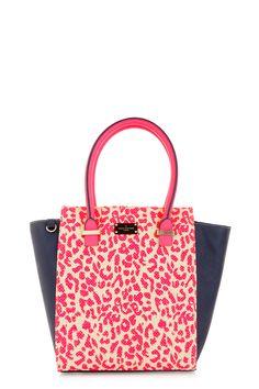 3236c4974e Mila Tote Bag - Pink Raffia Leopard Paul s Boutique