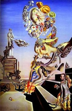 Framed Print - Salvador Dali The Lugubrious Game (Painting Picture Poster Art) & Garden Salvador Dali Gemälde, Salvador Dali Paintings, Art Espagnole, Dali Artwork, Clock Painting, Surrealism Painting, Arte Pop, Art Moderne, Fantastic Art
