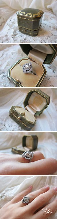A stunning antique edwardian engagement ring. Via Erstwhile Jewelry Co.