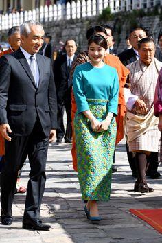 眞子さま、振り袖姿で ブータン国王夫妻を表敬訪問:朝日新聞デジタル
