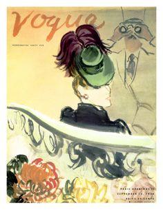 "Vogue Cover - September 1938 by Carl ""Eric"" Erickson. Print from Art.com, $157.00"