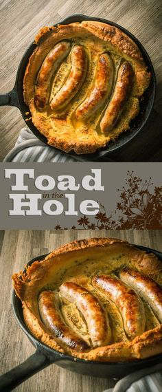 Skillet Toad in the Hole Recipe: Bubble and Squeak is traditionally a left over dish, I like to do mine a little differently and blast it all in a cast iron skillet and rock it with an egg or two. Iron Skillet Recipes, Cast Iron Recipes, Skillet Meals, Bratwurst Recipes Skillet, Skillet Food, Sausage Recipes, Pork Recipes, Cooking Recipes, Pizza Recipes