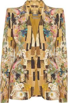 Alexander McQueen Printed crepe blazer