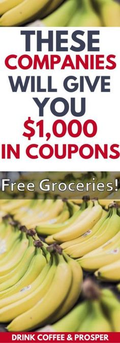 These Companies Will Give You $1,000+ in Free Coupons | Save Money | budgeting | Budgeting and Saving Money | Free Coupons | Get grocery coupons | how to coupon | how to be a couponer | drinnkcoffeeandprosper.com