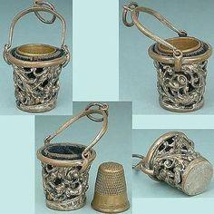 Antique Chatelaine Thimble Holder * English * Circa 1890
