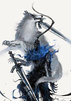 Artorias The Abysswalker,DS персонажи,Dark Souls,фэндомы,Great Grey Wolf Sif Dark Souls 3, Arte Dark Souls, Dark Fantasy Art, Dark Art, Dark Souls Artorias, Persona Anime, Soul Saga, Character Art, Character Design
