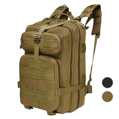 4eb2e88f7e TAN MOLLE Best Military Army Pack Bugout Bag Rucksack TACTICAL BACKPACK