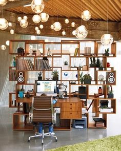 Awesome Home Office Design Ideas Lovely details. office space Teen Girl's Room Design Ideas, Pictures, Remodel, and Decor - page 2 Small H. Deco Design, Design Case, Design Design, Milan Design, Design Room, Mid Century Modern Bookcase, Modern Home Offices, Sweet Home, Regal Design