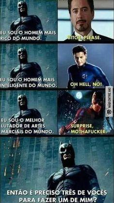 ) Batman humilhando a Marvel Memes Status, Dc Memes, Avengers Memes, Marvel Memes, Marvel Dc Movies, Star Labs, Mundo Marvel, Batman Vs Superman, Wtf Funny
