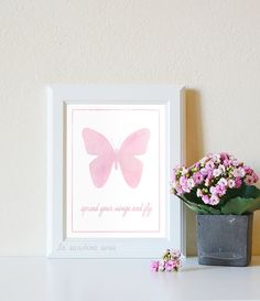 Spread your wings and fly Girl Art Print by LaSardinaRosa on Etsy