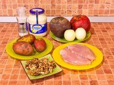 Salata de granat brățară.  ingrediente Eggs, Cooking, Breakfast, Recipes, Food, Kitchen, Morning Coffee, Essen, Egg