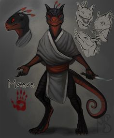 Maeve the Argonian ref by Serpentwined