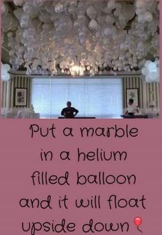 Marble in a balloon