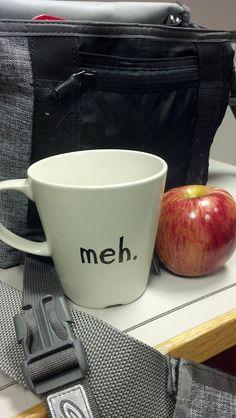 """meh"" Sharpie Mug- DIY Mug design!"