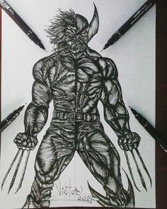 Desenho finalizado WOLVERINE