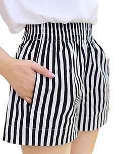 plus size shorts women summer style 2016 bermuda feminina Elastic waist wide leg ladies shorts women pantalon femme Fashion Pants, Girl Fashion, Fashion Design, Summer Outfits, Cute Outfits, Schneider, Chor, Skirt Pants, Look Chic