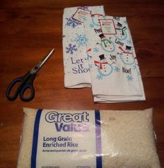 Easy Homemade Christmas Gift Ideas - Rice Bag Heating Pad - Click pic for 25 DIY Inexpensive Christmas Gifts for Kids