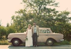 Bride and groom old car - My old classic car collection