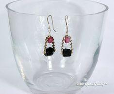 Black Tourmaline Pink Jade Raw Crystal Sterling Gemstone