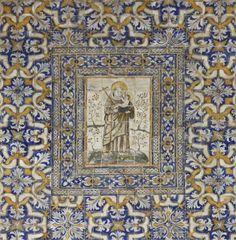 Alvito | Igreja Matriz / Main Church | séc. XVII / 17th century #Azulejo #AzulejoDoMês #AzulejoOfTheMonth #Santos #Saints #Alvito