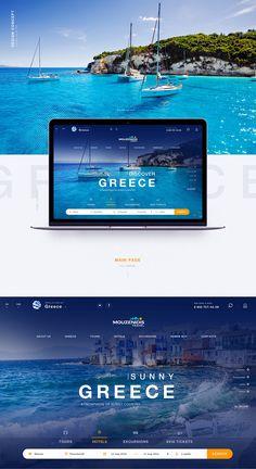 Greece travel on behance design ideas travel website design, web design Travel Website Design, Website Design Layout, Web Layout, Travel Design, Website Designs, Website Ideas, Layout Design, Modern Website, Hotel Website
