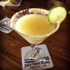 Key Lime Pie Martini from Junction Buoy in Port Huron-already missing summer