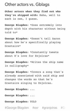 George Blagden ships E/R SO hard, there is a reason he is called CAPTAIN Blagdog
