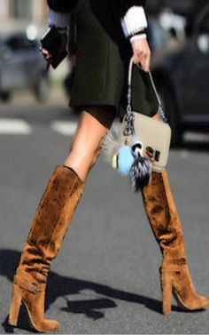Love suede boots - Luxury street Chic - Luxurydotcom