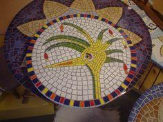 Mosaico produzido por aluna, adoro ensinar a técnica e comprovar que todo mundo tem dons .