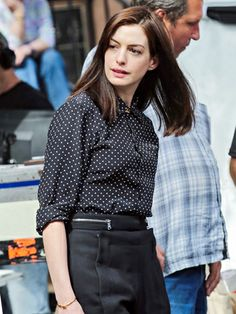 Anne Hathaway has a whole new look