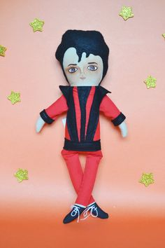 Michael Jackson, Thriller ★ This doll was created and designed with a collaboration of Mandarinas de Tela and Beijos Events.