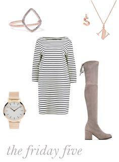 Jumper Dress and Overknees, Friday Five, Style Inspiration, What to buy, Rosefield, Stuart Weitzman, Lowlands, Hiighlands, Midlands, Hinterlands, Monica Vinedar