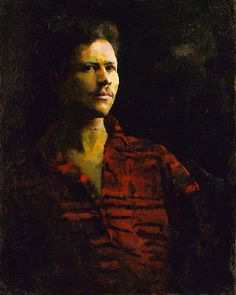 """""""Self-Portrait by William H. Johnson"""" (1901-1970). c 1923-26 oil on canvas. Johnson was an American artist who studied at the National Academy of Design and was capable of wonderful academic-style paintings such as this. In the collection of The Smithsonian American Art Museum, Washington, DC."""