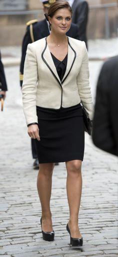 Prinsessan Madeleine vid Riksmötets öppnande. Fotograf Sven Lindwall | Expressen