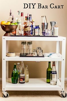 DIY Bar Cart with garnish stations #RubbermaidSharpie #PMedia #ad