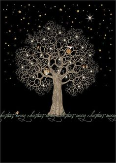 ✻BugArt Christmas Jewels ~ Night Tree. CHRISTMAS JEWELS Designed by Jane Crowther.