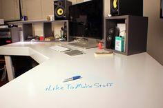 DIY Inspiration: The Dry Erase Surface Desk I Like to Make Stuff