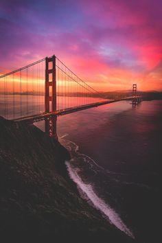 "banshy: ""Golden Gate Bridge // Jude Allen """