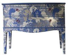how to wallpaper laminate furniture