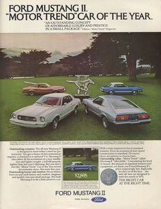 Mustang Car Ads | Old Car Ads Home | Old Car Brochures | Old Car Manual