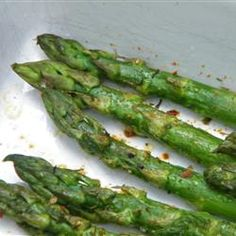 "Superfast Asparagus | ""Absolutely delish! I used olive oil in place of the spray. So easy and so worth it."""