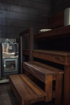 Sauna Shower, Sauna Design, Sauna Room, Saunas, Log Homes, Small Bathroom, Home And Living, Home Kitchens, Relax