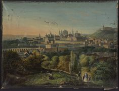 Brno, 1838 City, Painting, Painting Art, Cities, Paintings, Painted Canvas, Drawings
