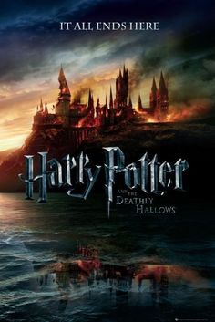 "Harry Potter And The Deathly Hallows - Movie Poster (Advance Style - Hogwarts On Fire) (Size: 24"" x 36"") by Posterstoponline, http://www.amazon.com/dp/B004AI2IIU/ref=cm_sw_r_pi_dp_ank6rb08Y8S5S"