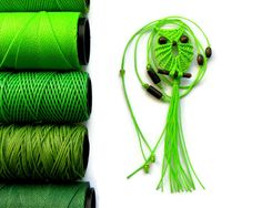Neon Green Macrame Owl Necklace by macraMe on Etsy, $10.00