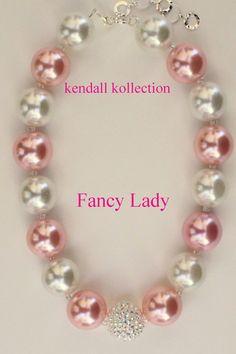 """Fancy Lady"" Chunky Beaded Necklace for women, girls, kids"