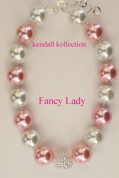 """Fancy Lady"" Chunky Beaded Necklace for women, girls, kids"