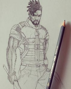 """regram """"Killmonger"""" Illustrated by Nubiamancy is a horror fantasy and science fiction social media platform and soon-to-be film production company. Watch the video link at the top of the page to learn more. Marvel And Dc Superheroes, Marvel Villains, Marvel Avengers, Marvel Comics, Character Drawing, Character Design, Dora Milaje, Erik Killmonger, Black Widow Movie"""