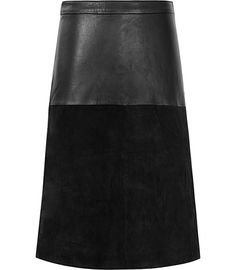 Reiss Hayden Textured Leather Skirt   Clothing