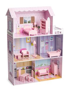 Fancy Mansion Doll House With Furniture